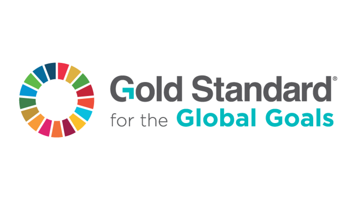 This is the logo of the Gold Standard for the Global Goals, one of the leading standards for climate protection projects for climate neutrality.